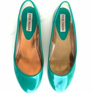 Steve Madden P Heaven Patent Ballet Flats Size 8
